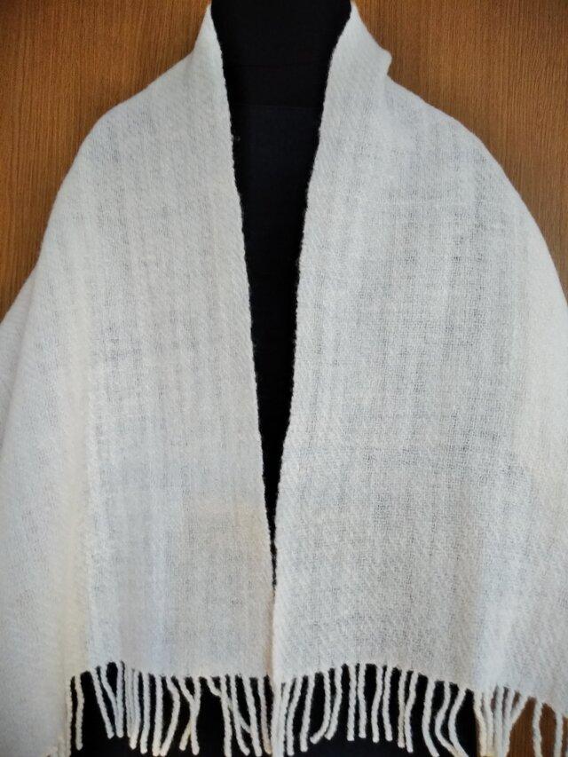 手紡ぎ手織りストール #6の画像1枚目