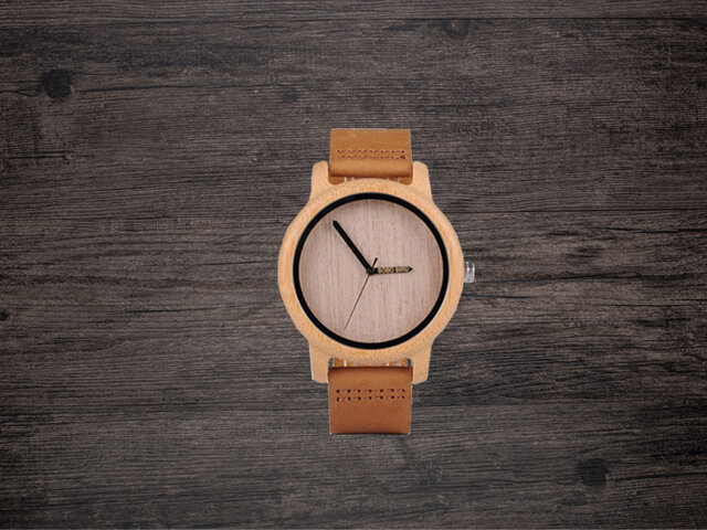 Bamboo Wooden Watch Simplement Design Type Aの画像1枚目