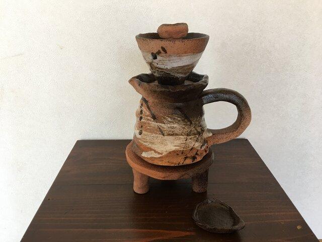 陶器コーヒーどりっぷセット(SIBUKEI)の画像1枚目