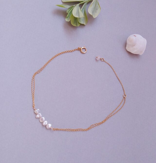 Keshi Pearl Braceletの画像1枚目
