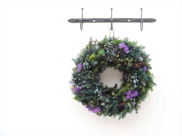 green wreath -lavender-の画像1枚目