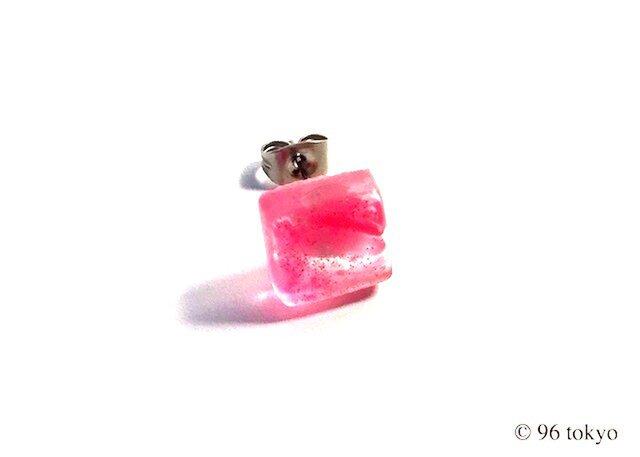 ピアス -スクエア pink- (サージカルステンレス)の画像1枚目