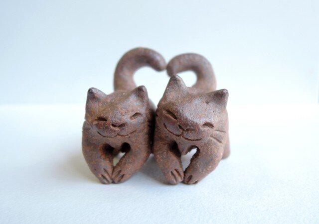 ハートちび猫=^人^=こげ茶猫2の画像1枚目