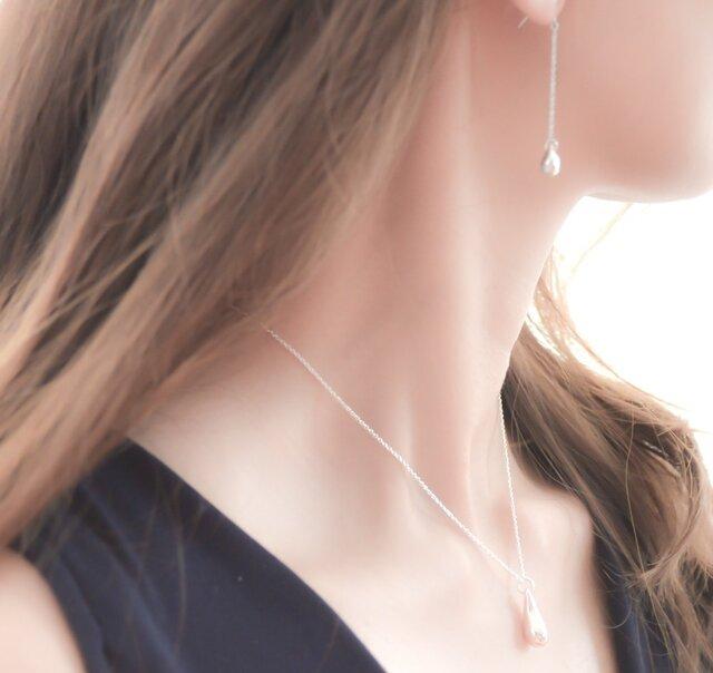 Silver925 Teardrop Necklaceの画像1枚目