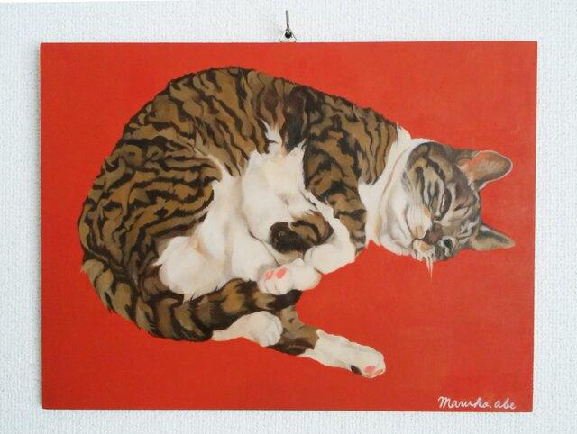 猫ごろん(ぐりこ)原画の画像1枚目