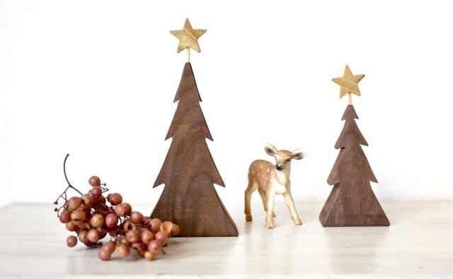小さな木のクリスマスツリーの画像1枚目