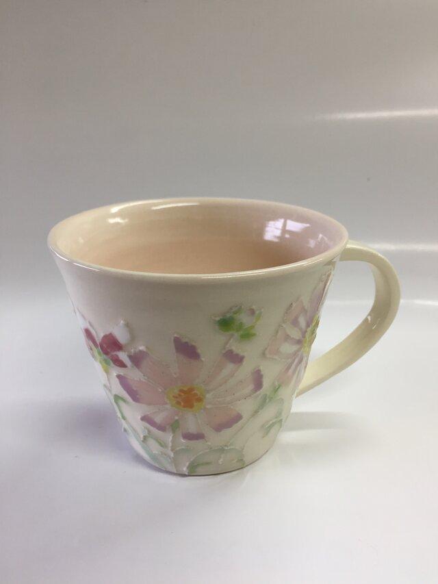 再販 クリスマスに セットで使える! 秋桜パステルカラーカップの画像1枚目