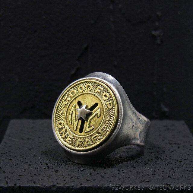 NYC ビンテージ・コイン Ring Token coinの画像1枚目