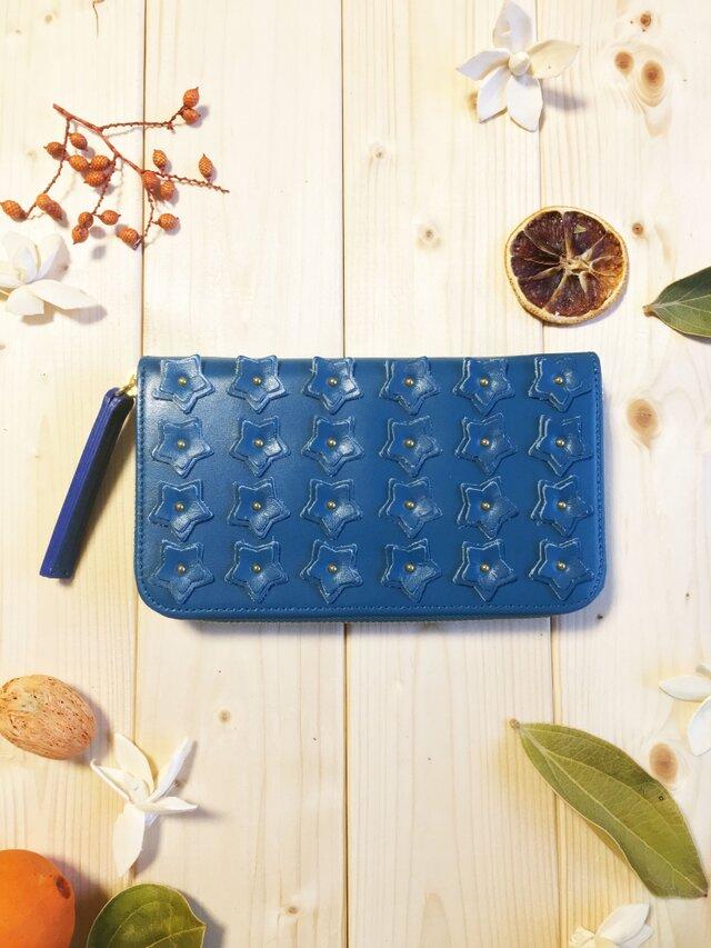 スターシリーズ《ブルー》長財布 スムースレザーの画像1枚目