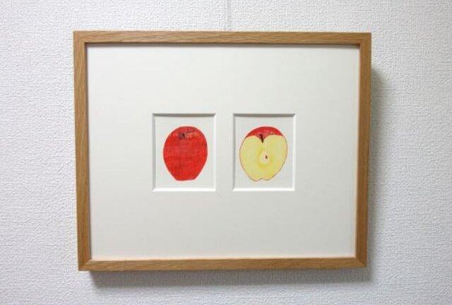 リンゴをはんぶんこの画像1枚目