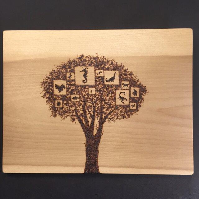 tree of memory(焼き板絵)の画像1枚目