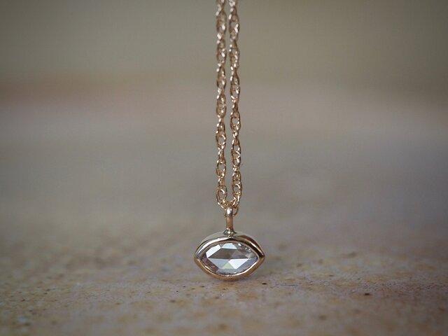 Rose Cut Marquis Diamond Necklaceの画像1枚目