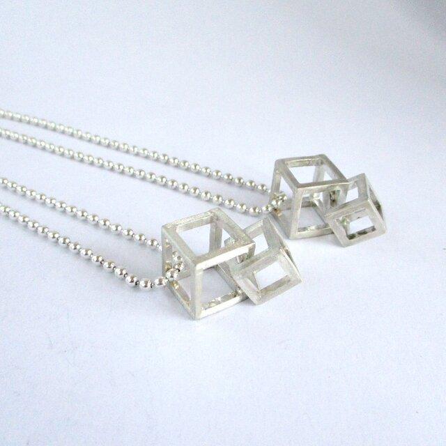 【再販】double cube ペンダントLの画像1枚目