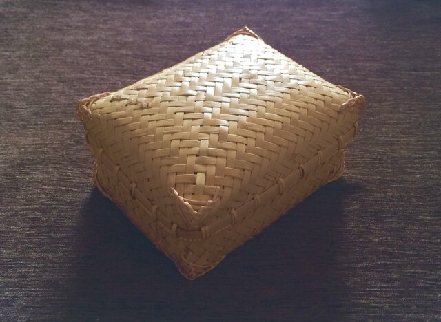 網代編み 竹弁当箱の画像1枚目