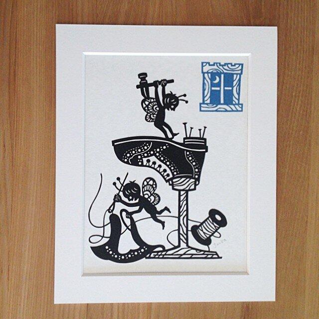 童話切り絵「小人の靴屋」の画像1枚目