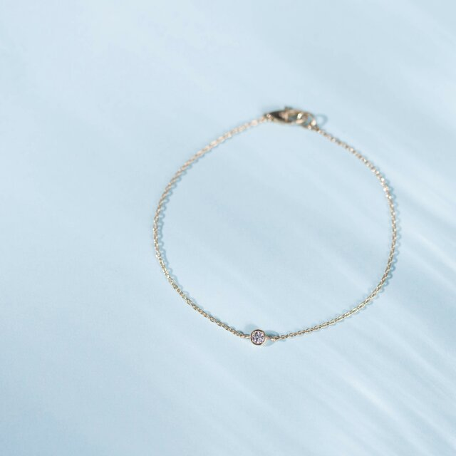 Pleine Lune -Bracelet-◇K18YG×Diamond 0.06ctの画像1枚目