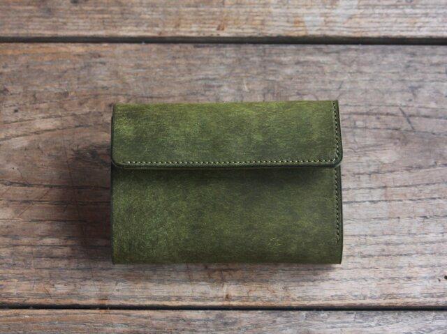 三つ折り財布 [becco] オリーブの画像1枚目