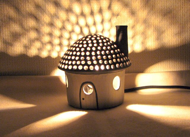 黒陶ランプ 「明るいわが家(LED) 」の画像1枚目