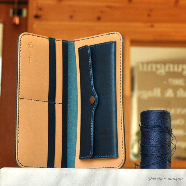 シンプルな長財布B No.7 ブッテーロの画像1枚目