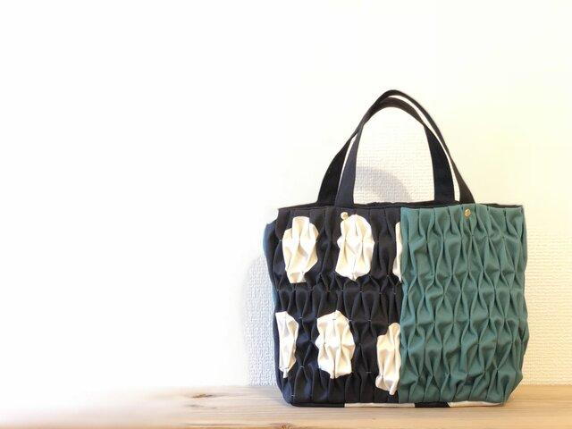 〈20%オフ〉Smocking tote bag【s】-combination-の画像1枚目