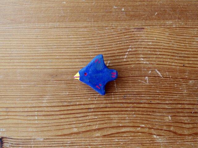 青い鳥のミニブローチの画像1枚目