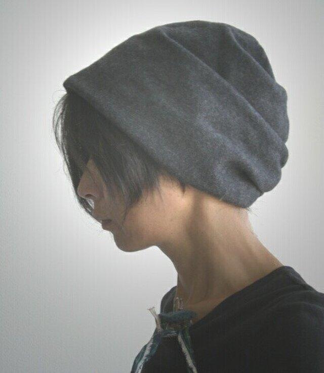 ターバンな帽子 グレー+グリーン 送料無料の画像1枚目