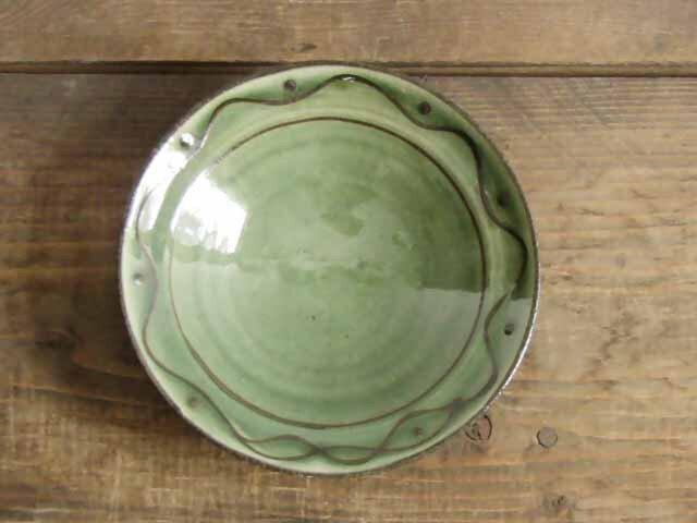 イッチン流文皿(緑)の画像1枚目