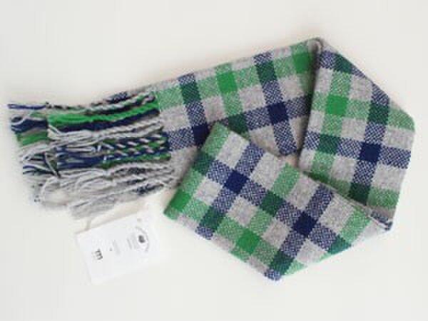 手織りウールマフラーの画像1枚目
