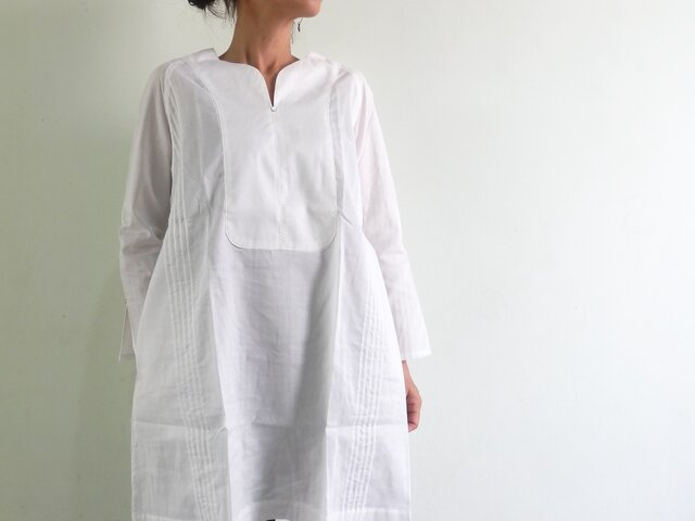 ホワイトシャツ/プレオーガニックコットン/ラグランスリーブの画像1枚目