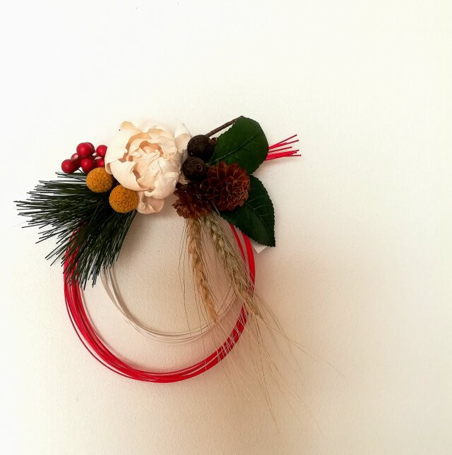 【再々販】【送料無料】香る紅白水引のお正月飾りの画像1枚目