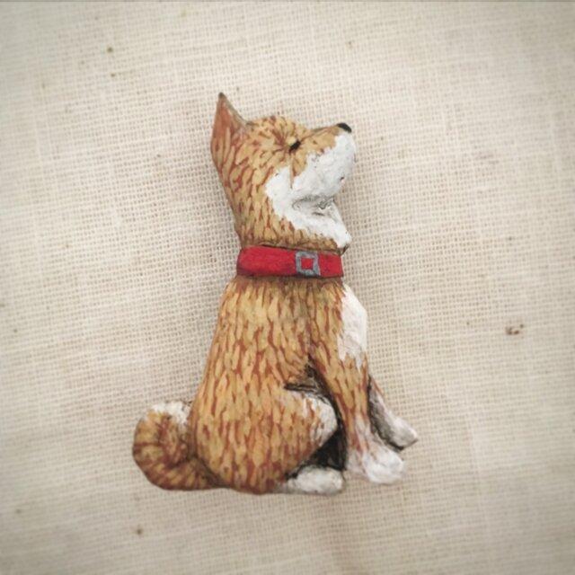 ブローチ 柴犬 (ボックス付き)の画像1枚目