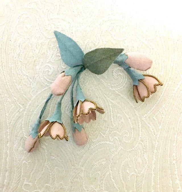 卒業式にお勧め・桜のコサージュ(結城紬ピンク)髪飾りにも289の画像1枚目