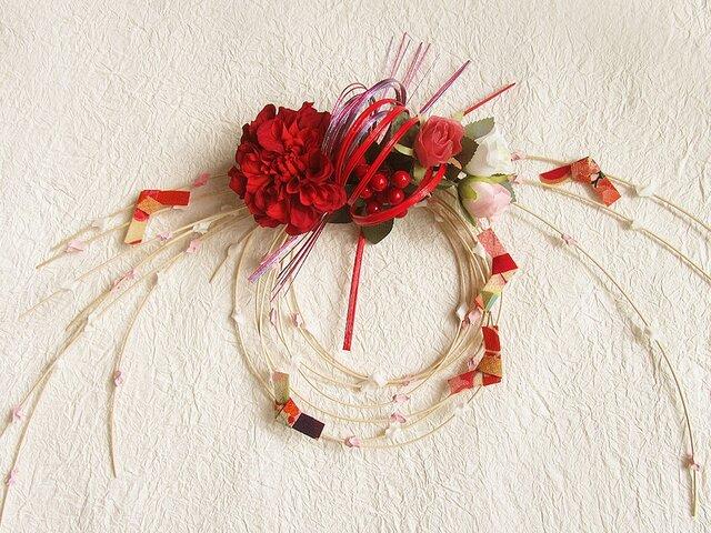 お正月飾り 新作 もち花リース NYD-12の画像1枚目