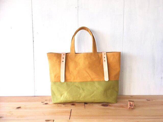 【受注製作】黄色と黄緑色の鞄の画像1枚目