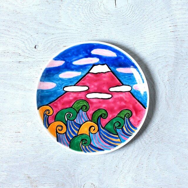 夏の富士山 ・色絵皿part2の画像1枚目