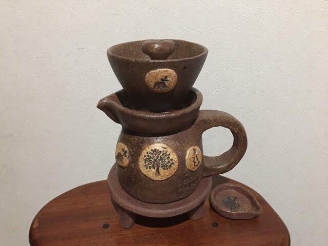 陶器どりっぷセット(森のポット)の画像1枚目