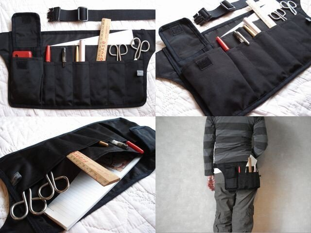 【a】手ぶらで身軽スマート携帯/服を選ばない大人カッコいい メンズライクな立ち仕事の相棒Bag【選べる8タイプ】プレゼントにも♩の画像1枚目