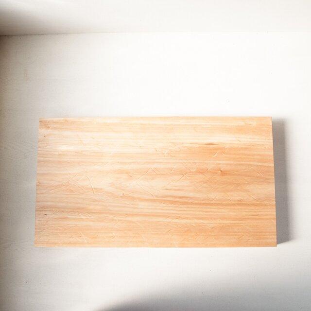 バッコヤナギのまな板 No39 (370×670 h45)の画像1枚目