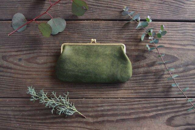 がま口財布 [Una borsa] オリーブの画像1枚目