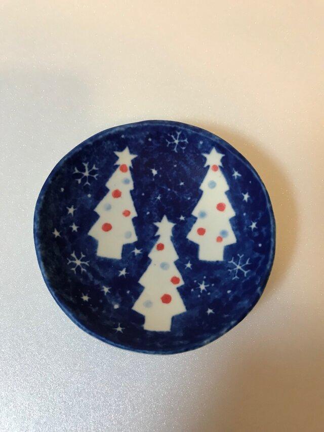 クリスマス模様 豆皿②の画像1枚目