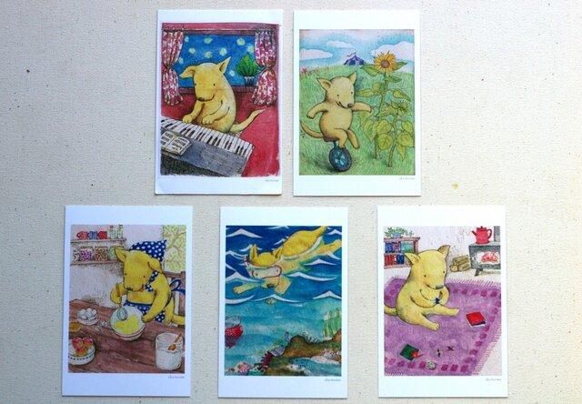 くりちゃんのポストカード5枚組(post card set)の画像1枚目