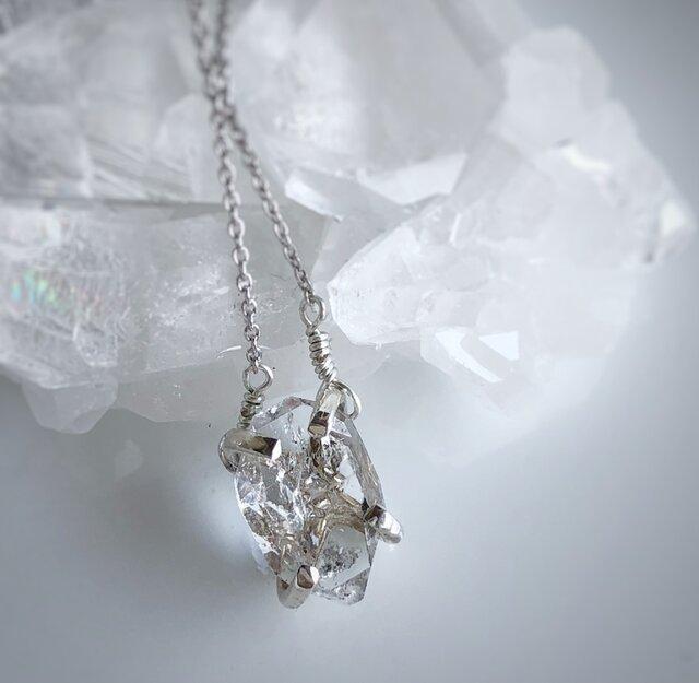 ハーキマーダイヤモンド ネックレス/silver925(2)の画像1枚目
