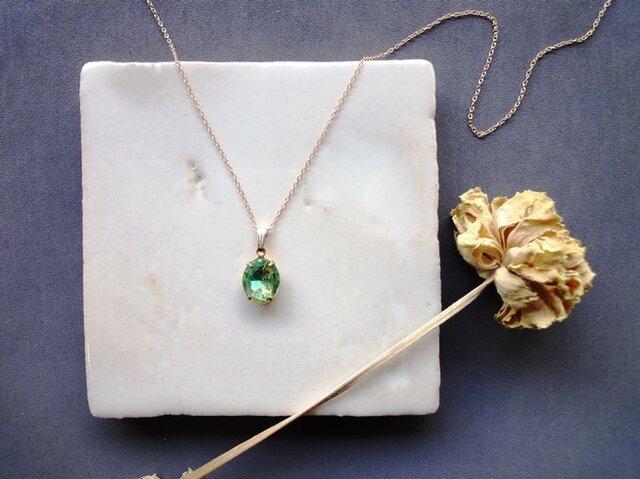 Vintage Stone Necklace■Oval■G&Yの画像1枚目