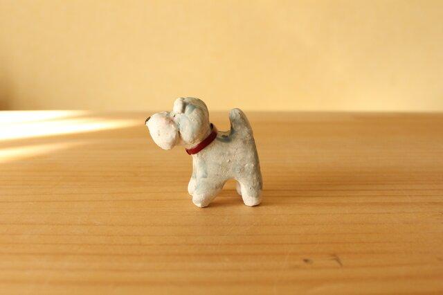 干支の陶犬。(ミニチュアシュナウザー)の画像1枚目
