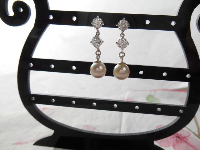 EP9339 あこや真珠ピアスの画像1枚目