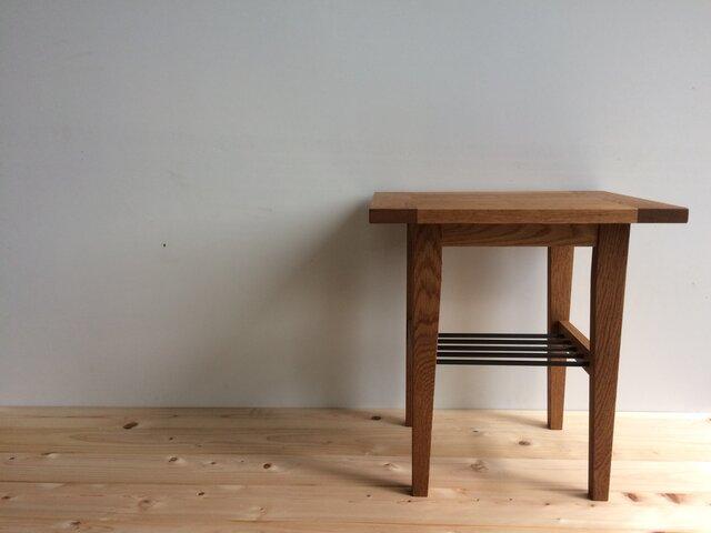 サイドテーブル アイアン棚の画像1枚目