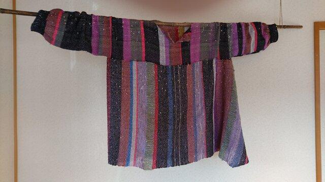 手織りチュニックの画像1枚目