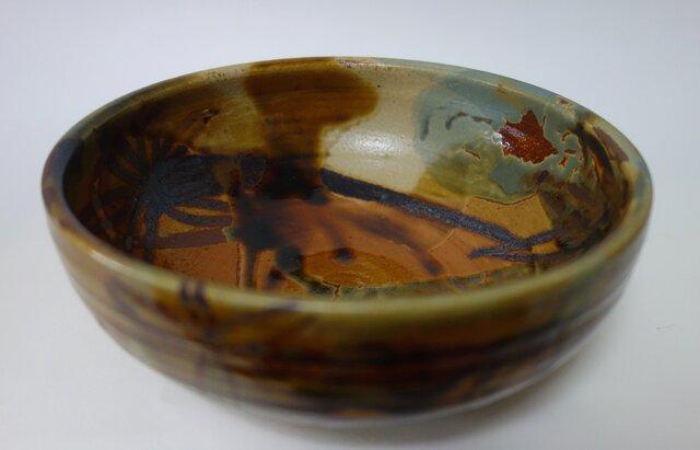 鉄絵しゃく掛け中鉢の画像1枚目