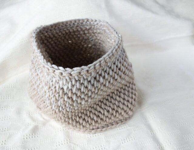 アフガン編みスヌード / beigeの画像1枚目