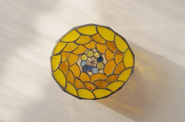 キイロ花 壁掛けランプの画像1枚目